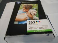 HP GENUINE INK CARTRIDGES 363 WITH GLOSSY PHOTO PAPER