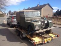 1952 Series 1 Land Rover with galvanised chassis & bulkhead, for salel due to lack of storage