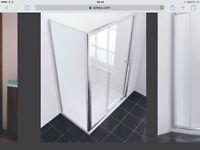 Sliding Shower Enclosure Door 1400mm - unused, still packaged.