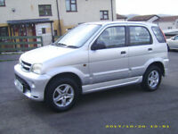 daihatsu terios 4x4 6 months mot 1300cc drives very well