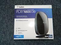 Belkin Play N600 DB Wireless Dual-Band N+ Modem Router *New*