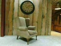 Wingback Fabric Chair (Oatmeal)