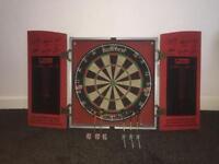 Unicorn eclipse Dartboard,cabinet and darts