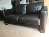 Brown 2 Seater Contemporary Sofa