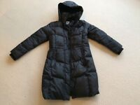 LADIES TIMBERLAND BLACK KNEE LENGTH COAT - MEDIUM
