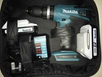 Makita combi cordless hammer drill 18v tools two batteries and case
