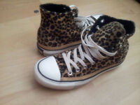 Brand New Size 7 Leopard Print Converse - Worn Once!!