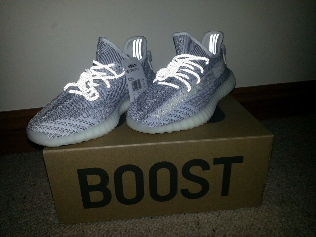 006544045 Adidas Yeezy Boost 350 V2 STATIC REFLECTIVE UK 9.5 RARE FAST DELIVERY!
