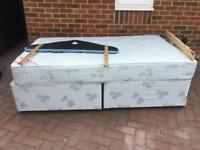 Single double bed free