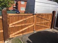 Driveway gates wooden gates front gate side gate