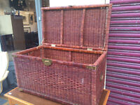 Large wicker basket , great for storage . Size L 36in D 20in H 20in.