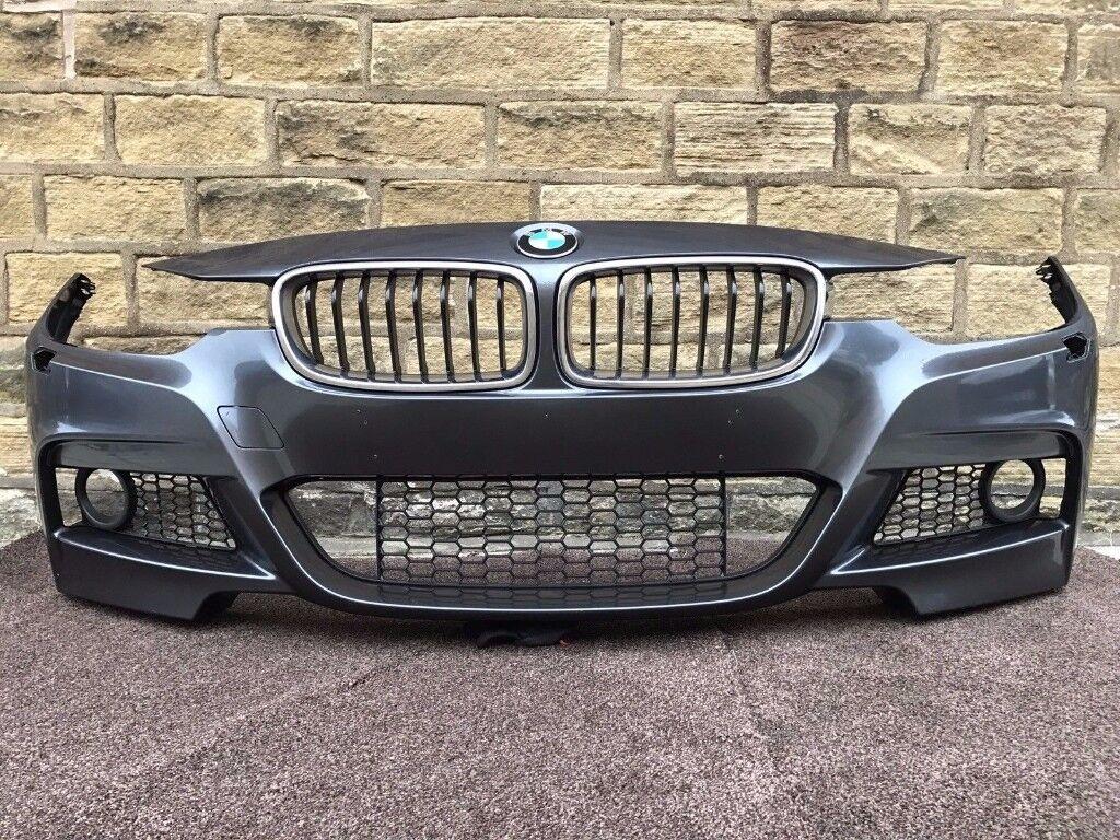 2015 BMW 3 SERIES F30 F31 M SPORT - FRONT BUMPER inc ALL GRILLS - Good Cond (6)