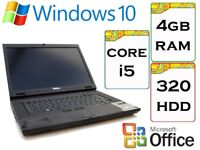 BARGAIN - Dell Latitude Intel 2.0 Ghz 4gb Ram 320gb HDD Windows 10 Laptop