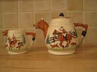 collectable teapot and milk jug.