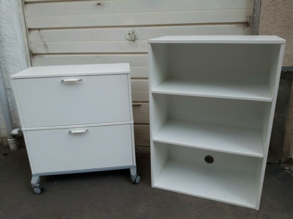 Office Furniture Storage Combination With Filing Cabinet Cupboard Shelves