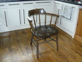 Antique smokers bow / captains chair