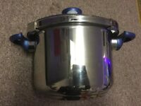 Seb tefal clipso stainless steel induction ready pressure cooker lakeland pan dividers free post
