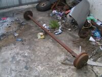 2 Trailer axles and springs