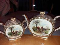 Sadler teapot and sugar pot