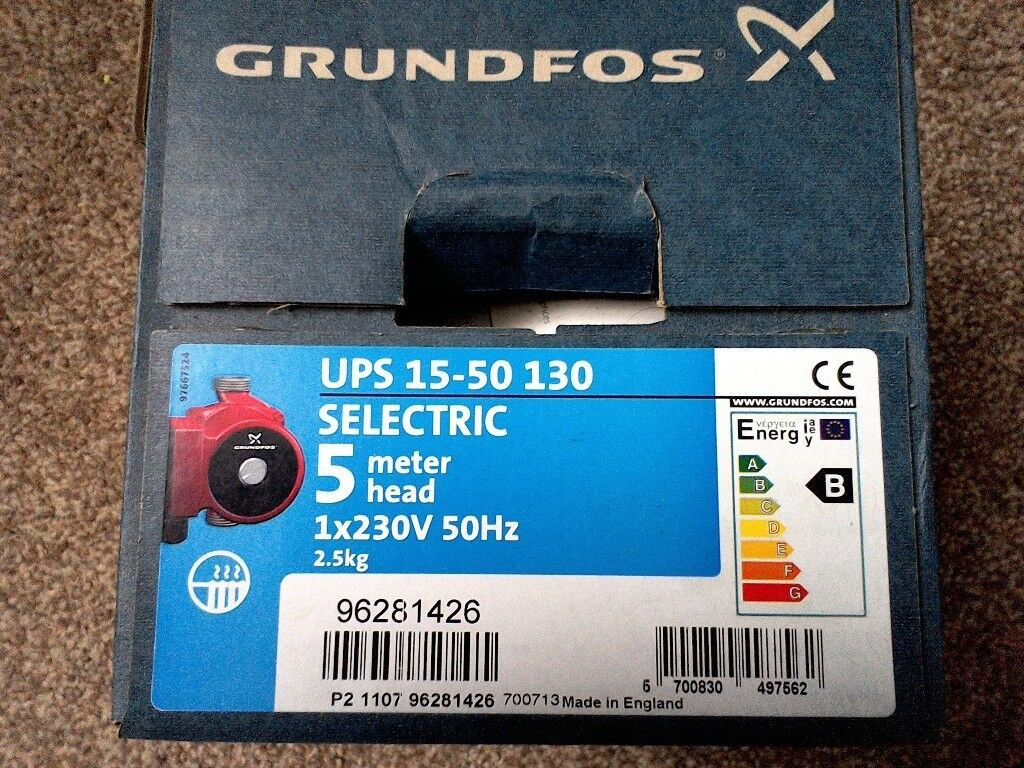 Grunfos central heating pump 15/50   in Torquay, Devon   Gumtree