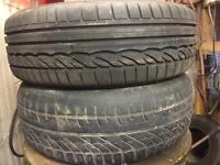 """Renault 15"""" alloy wheels and tyres 185/60 15"""