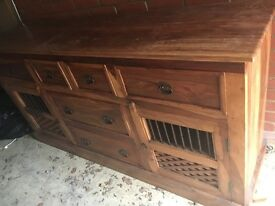 'Indian wood' sideboard unit