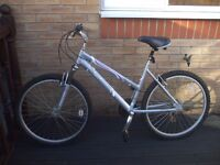 Ladies Silver Raleigh Freeride Tundra Mountain Bike - Very Good Condition