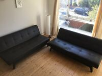 2 Leather Sofa Bed