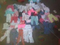 joblot baby girls clothes