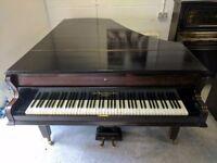 Fantastic Mahogany 'John Broadwood' Baby Grand Boudoir Piano - CAN DELIVER