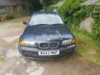 BMW 318, 1.9 petrol, low mileage, long MOT, 750£