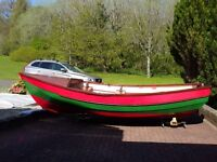 """16 ft 6"""" Pebble"""" Yorkshire Coble Fishing boat. NEW PRICE -- NOW £1850 was £2200"""
