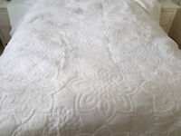 Marks and Spencer white bedspread.