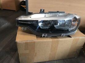 Genuine BMW F30 LCI Headlight Halogen COMPLETE - Passenger/near side