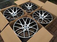 """4 x NEW 19"""" BMW CSL STYLE STAGGERED ALLOY WHEELS 5x120 SERIES WIDE REAR E36 E46 E60 E90 E92 E93 1 3"""