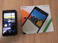 Microsoft Lumia 535 - 8GB - Black (Unlocked) Smartphone and box included