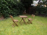 Ikea ASKHOLMEN garden table and chairs (x2) bought this summer, like new!