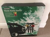 Halfords 3 cycle carrier - fits hatchbacks, saloons and estates