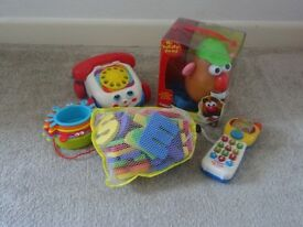 Fun Toy Bundle including Mr Potatohead, Fisher-Price Chatter Telephone, VTech Phone