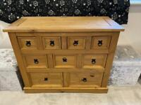 A beautiful solid 9 draw Pine sideboard