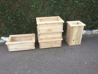 New Wooden Planters untreated local delivery offered