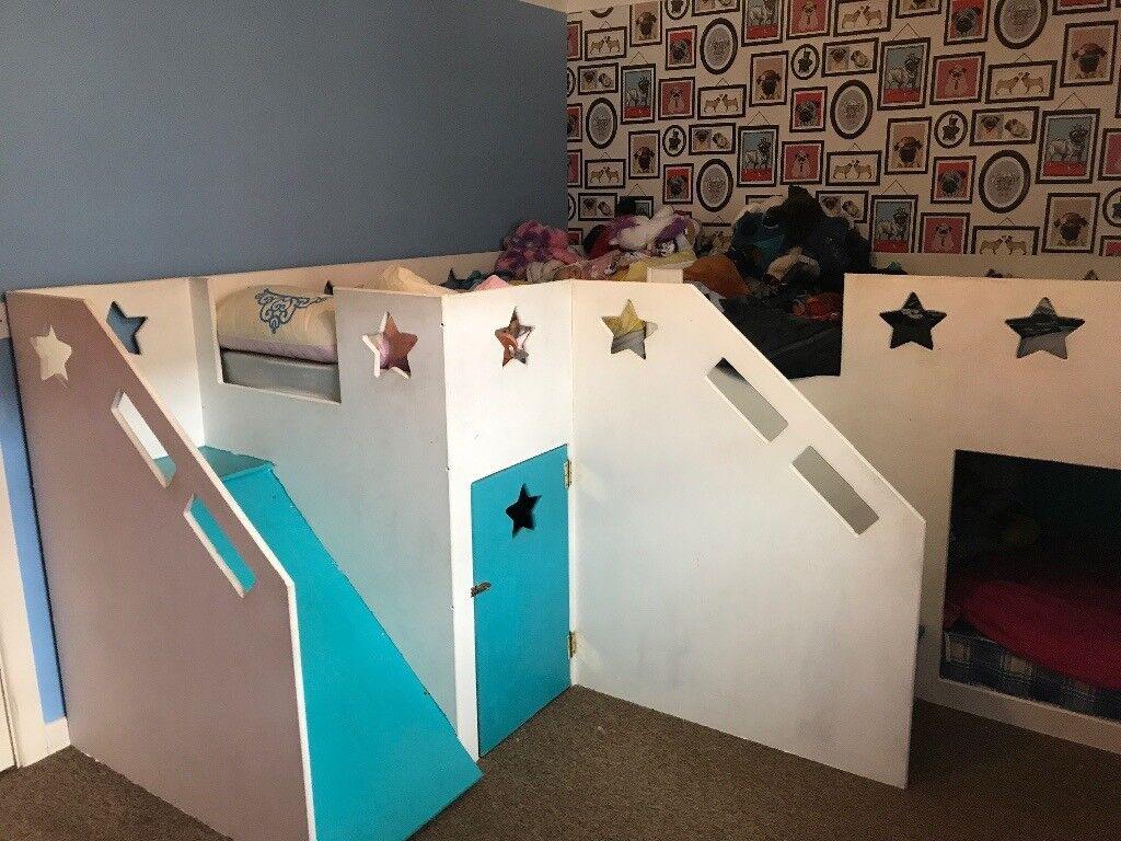 Triple Bunk Bed With Den And Slide In Wareham Dorset Gumtree