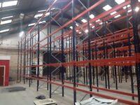 job lot 100 bays pallet racking AS NEW( storage , shelving )