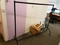 Strong Black Clothing Rail 5ft