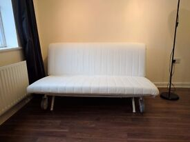 IKEA PS HAVET SOFA BED / ORIGINAL EXTRA DENIM COVER / FREE DELIVERY / RRP 400 + INC COVER