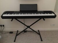 Casio CDP-130 88 Key Black Electric Keyboard Piano + Stand and Footpedal