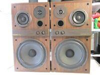 VINTAGE GOODMANS SPEAKERS GOODMANS MEZZO C1978 3 WAY LOUD SPEAKER SYSTEM 150 W