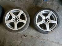 4 x 114.3 / 4 x 100 wheels & tyres suit civic corsa astra