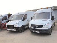 Mercedes sprinter van parts available interior seats turbo injectors turbo fuel pump