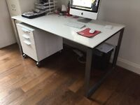 Contemporary Desk and Filing Cabinet by Tvilum